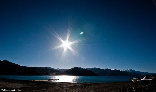 The Pangong Tso By day.