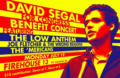 'Mericans David Segal Benefit Monday 19 July With Low Anthem
