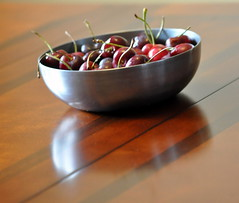 something about a bowl full of cherries