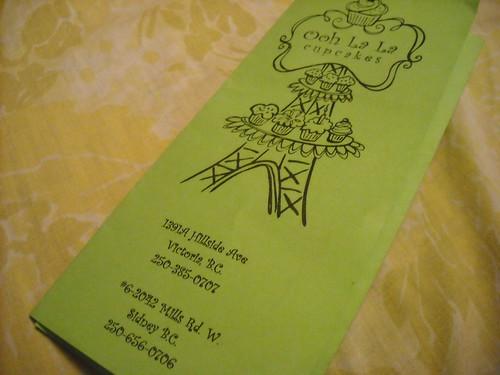 Ooh La La Cupcakes Brochure