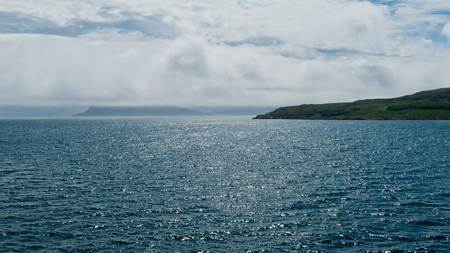 View of Rum and Eigg from the ferry