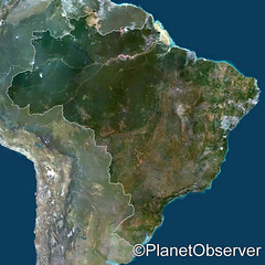 Brazil, South America - Satellite image - Plan...