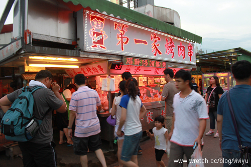 [美食.花蓮]自強夜市~蔣家官財板+第一家烤肉串+家傳東山鴨頭 @VIVIYU小世界