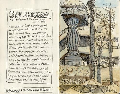 Sketch crawl 28: hollywood highlands