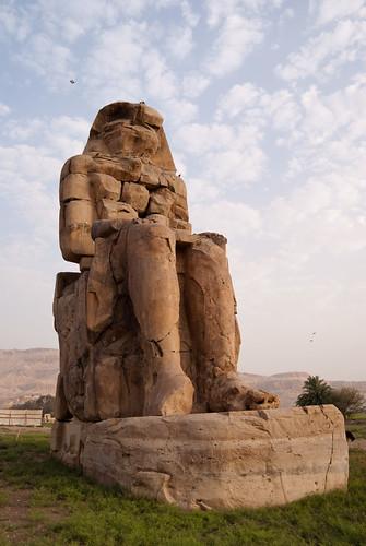 Colossi Memnon before distortion correction