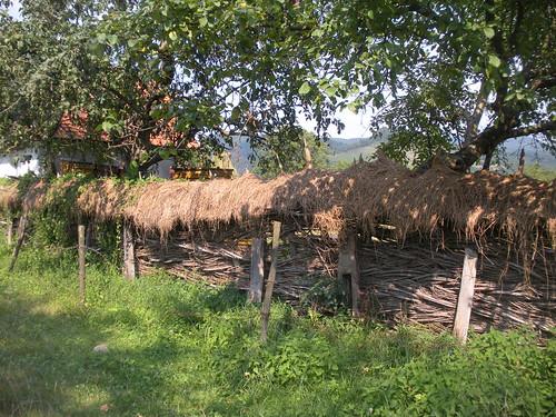 Woven fence near Tincova
