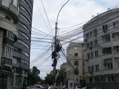 Spaghetti wiring in Bucharest