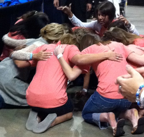 This is why I love Beth. She is all about the heart! Praying with these ladies after the event.