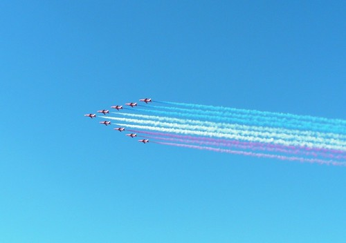 Cardiff Armed Forces Day-Red arrows fly-past