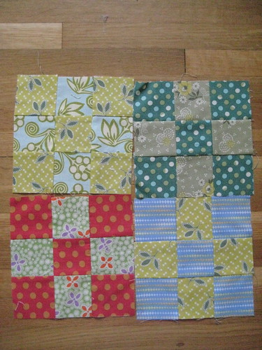Nine patch blocks for Sally