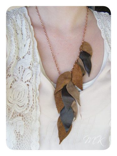 Leather Leaf Necklace Tutorial 14