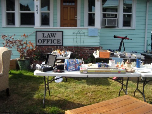 Law office yard sale