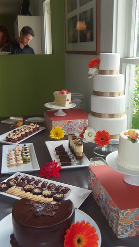 Desserts at Word of Mouth Catering Wedding Tasting