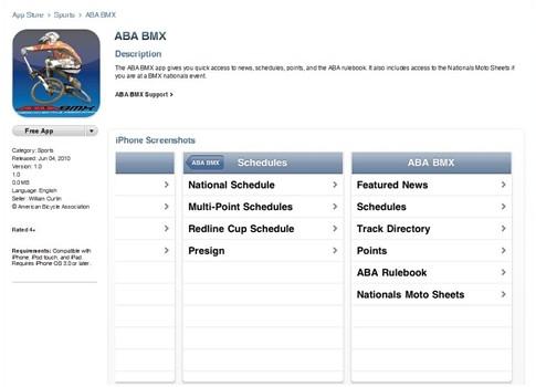 ABA BMX iphone screen