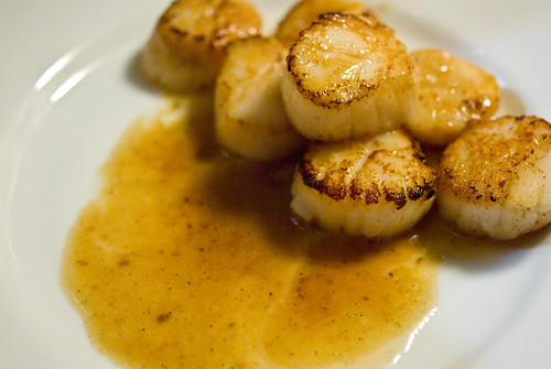 scallops in lime butter