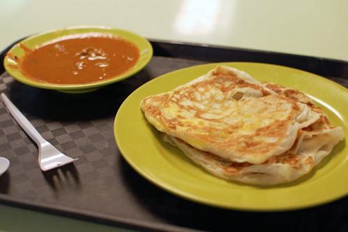 Roti Prata with Fish Curry