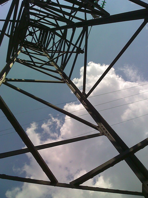 High tension tower