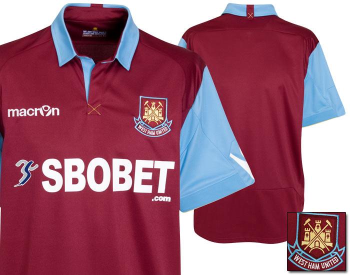 3828a9090 West Ham United Macron 2010 11 Home Kit   Jersey – FOOTBALL FASHION.ORG