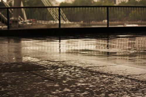 Summer Rain on South Bank