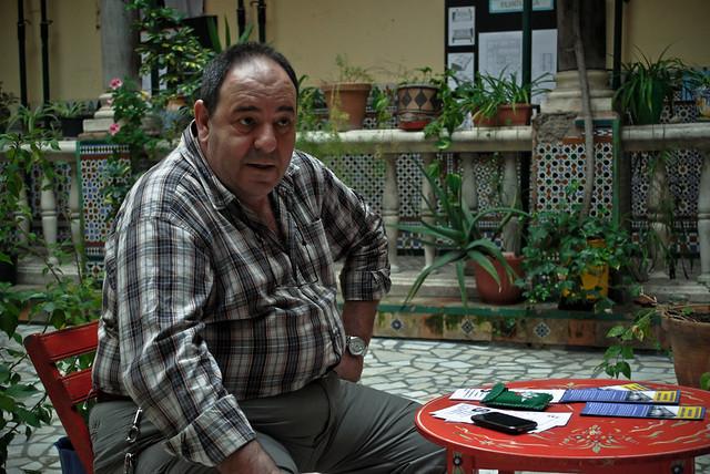 Miguel Macías, portavoz de la Liga de Inquilinos 'La Corriente'.