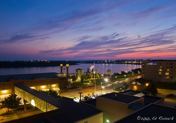 Sunset at the Aztar Casino_IMG_1139-40_pano