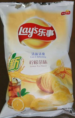 Ice tea potato chips
