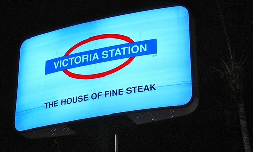 Victoria Station's Signboard