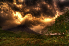 Arenal Fire Sky (over-saturated due to wrong c...