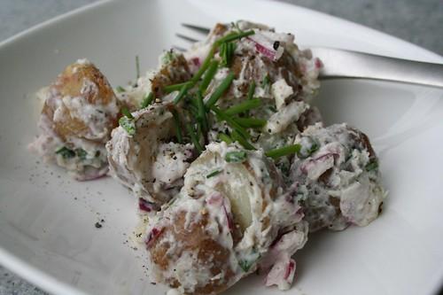 Potato Salad with Yogurt Cheese Dressing