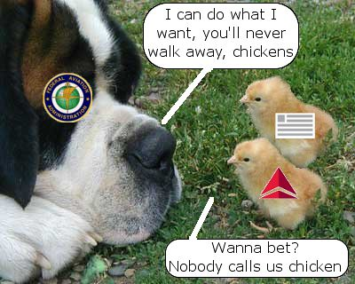 Delta and US Airways play game of chicken with FAA