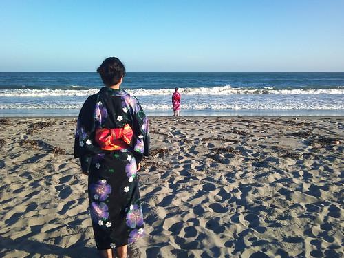 Yukata on the beach
