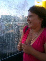 The Birthday Girl in the Fountain
