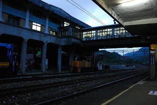 傍晚的侯硐(猴硐)車站