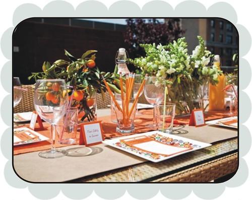 retro orange table