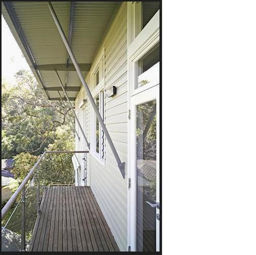 modern metal railing