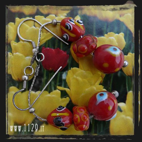 LHMURO orecchini rossi - red earrings 1129