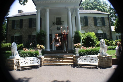 The A-Go-Go's jumping at Graceland