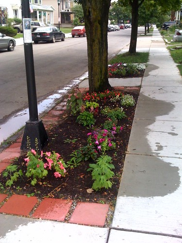 Sidewalk garden right
