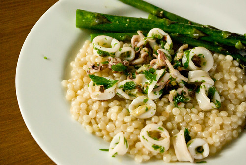 squid and couscous