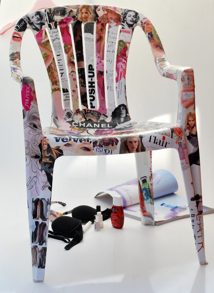 2011 year in blogging la factory di fia for Sedie decorate a decoupage