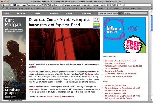 Svpreme Fiend - Fervor (Contakt Remix) on Fact Magazine