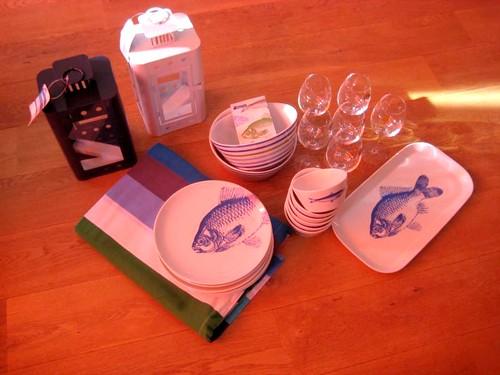 Prize won: outdoor eating set