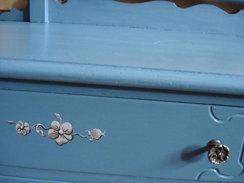 Blue dresser detail 2