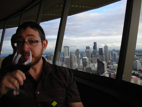 Dinner on top of the Space Needle in Seattle