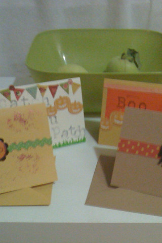 halloween notecards