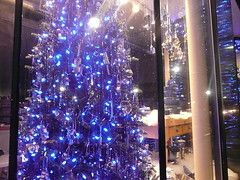 True blue Christmas tree