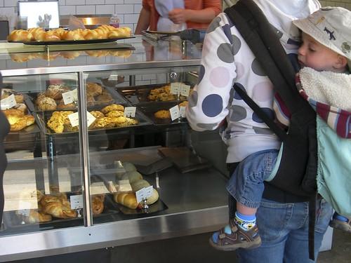 bakery case at Sandbox Bakery, Bernal Heights, SF