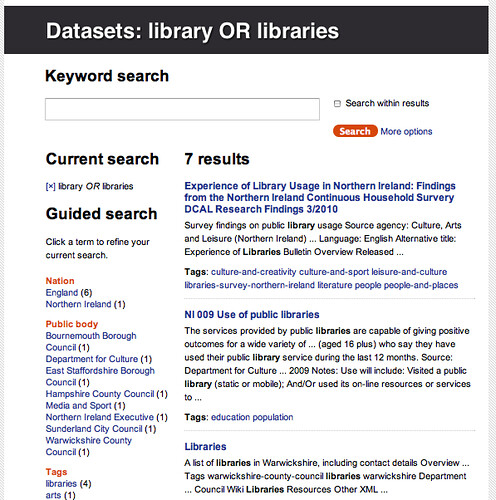 Data.gov.uk - libraries