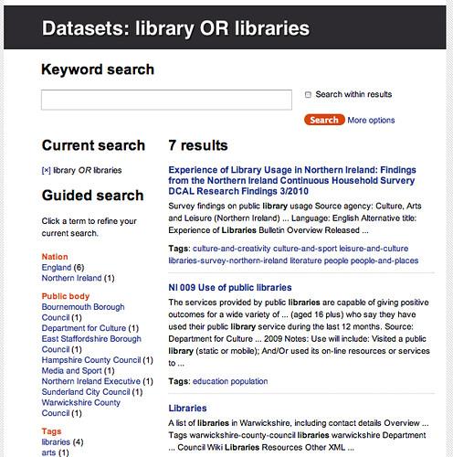 Data.gov.uk - libraries