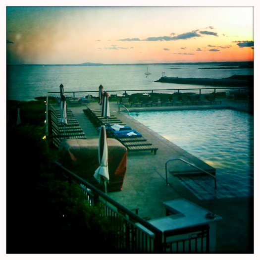 Maine - sunset at the Colony Hotel (my iPhone series)